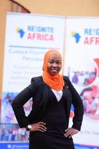 Namuyiga Swaburah is born and raise from Bwaise Kawempe and a graduate of BSc. Quantitative Economics for on Uganda Technology and Management University. She is very much passionate about women and children; she aspires to inspire them (women and children) to believe in them selves and know that anything is possible if one does what they believe in. Swaburah is a business woman, CEO Mibra Ushers, Swabies Pilau and many more in pipeline. She likes doing business. She is grateful to Reignite Africa for awakening the Giant in her