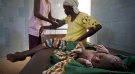A woman receives maternity care. Photo from the World Bank collection